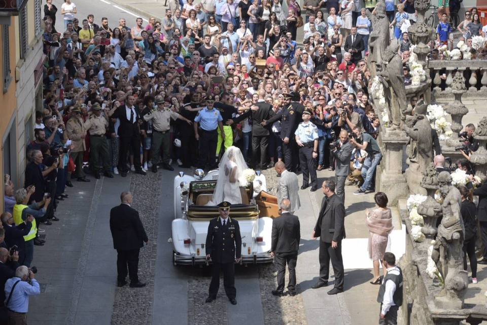 Eto'o weds Georgette in Stezzano, Italy