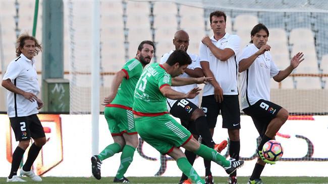 Retired Spanish Footballers thrash Iran Veterans 4-1 in a charity match