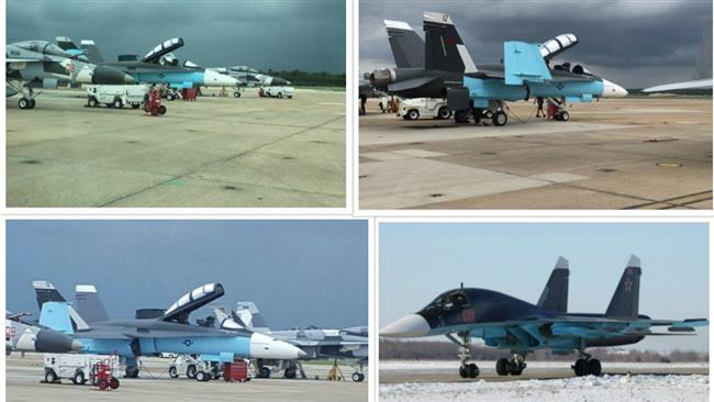 Photos of American warplanes disguised in Russian camouflage signalling  a possible false flag operation