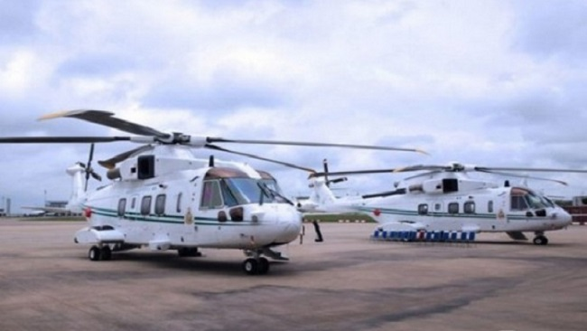 President Buhari offers two helicopters from the presidential fleet to the Nigerian Air Force