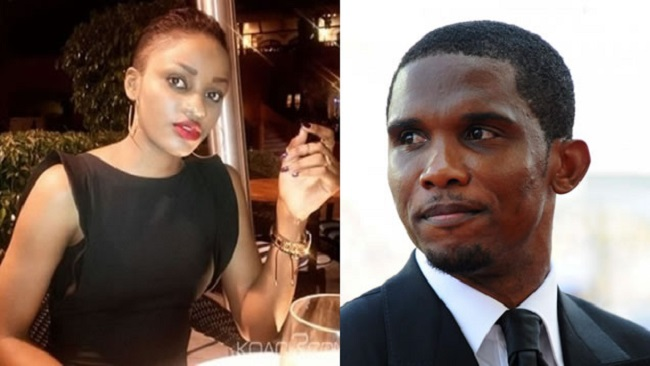 Lady who wrote book on her love life with Samuel Eto'o has given birth in a US hospital