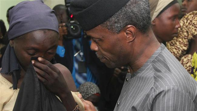 Nigerian troops rescue Chibok girl carrying a baby boy