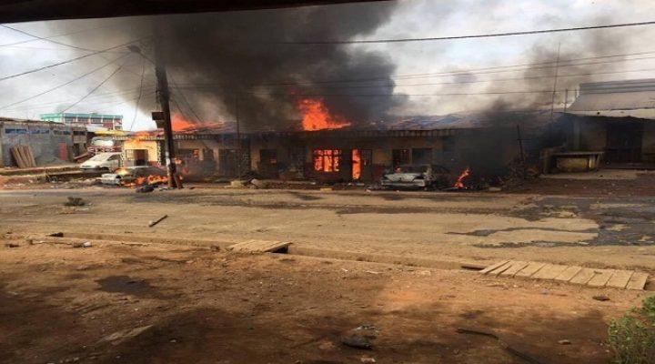 Ambazonia: Fire again destroys shops in Bamenda in a period of 2 weeks