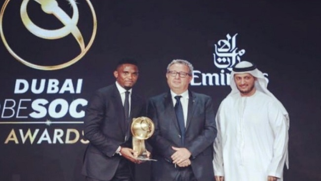 Eto'o honored in Dubai