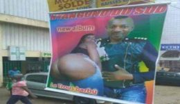 Francophone musician makes public unsuitable picture of naked woman in new album
