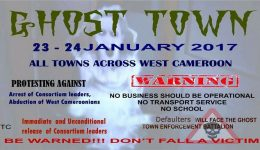 Anglophone Problem: Leaders say Ghost Town to target schools and internet companies