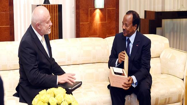 Biya and Russian ambassador hold talks at State House