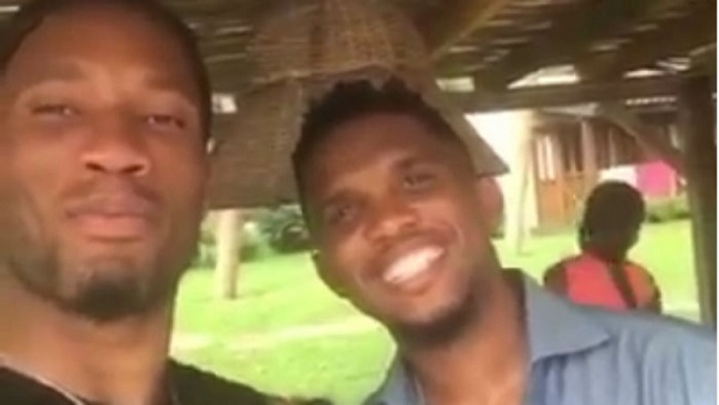 Eto'o and Drogba celebrate New Year in the Ivory Coast