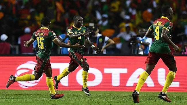 Cameroon's Aboubakar wins final with late goal against Egypt