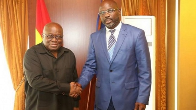 Footballer turned politician meets President Nana Akufo-Addo of Ghana