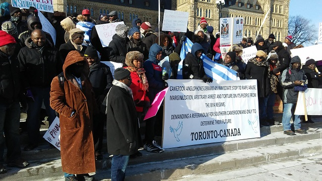Southern Cameroons protest rocks Canada