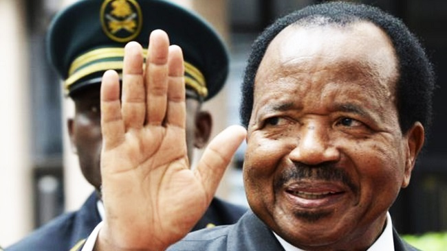 Biya en route to Rome