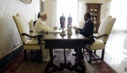 Biya meets the Holy Father Pope Francis