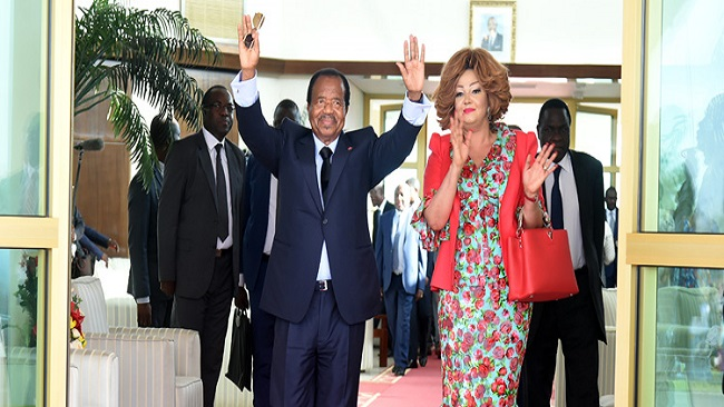 Biya en route to Paris