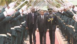 Biya presides over military ceremony