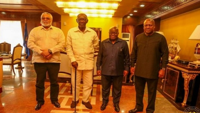 Ghana: President Nana Akufo-Addo holds meeting with three former heads of state