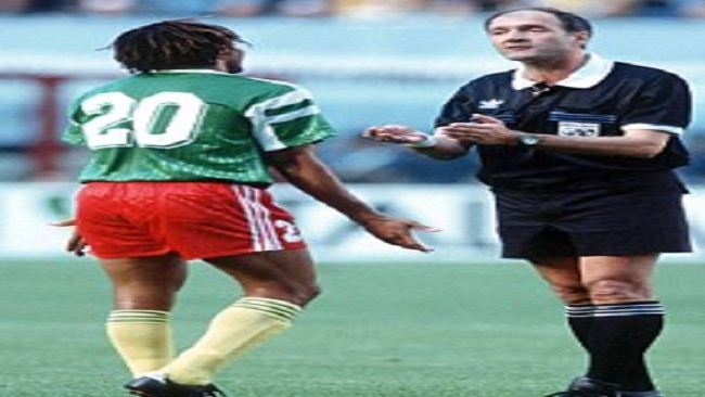 Ref who red carded Kana Biyik and Massing Benjamin in the 1990 FIFA World Cup says he has no regrets