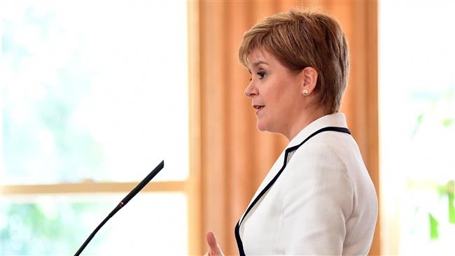 Scottish first minister calls for independence from UK during US visit