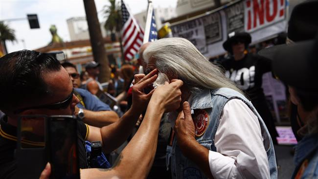 Anti-Trump protests held across US, 2 arrested in Hollywood