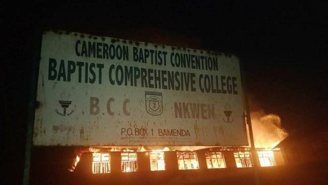 Battle for Southern Cameroons: Baptist Comprehensive College Nkwen set ablaze
