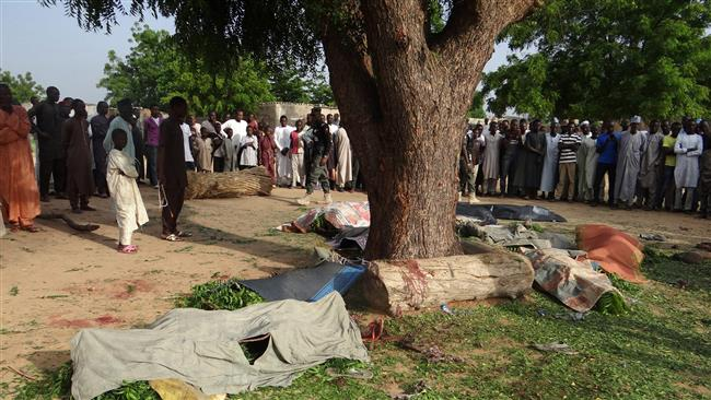 Boko Haram militants kill four , torch homes in Nigeria village