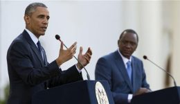 Obama calls for calm in fatherland Kenya