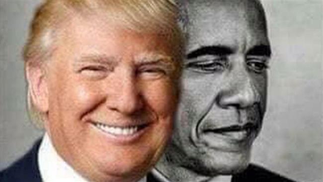 Trump posts bizarre tweet of him as the moon 'eclipsing' Obama