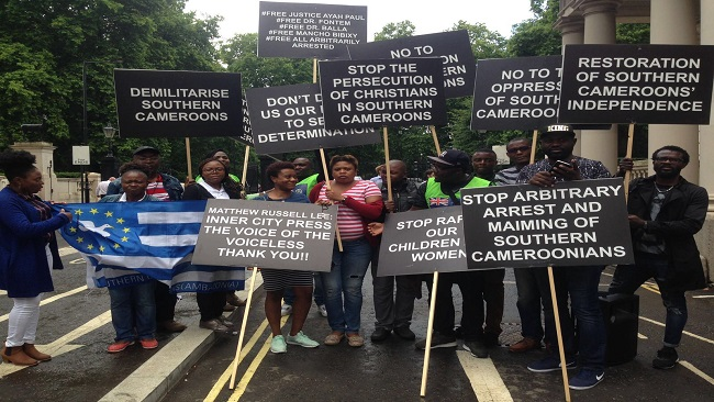 Biya trapped in hotel as Southern Cameroons protesters surround building in New York