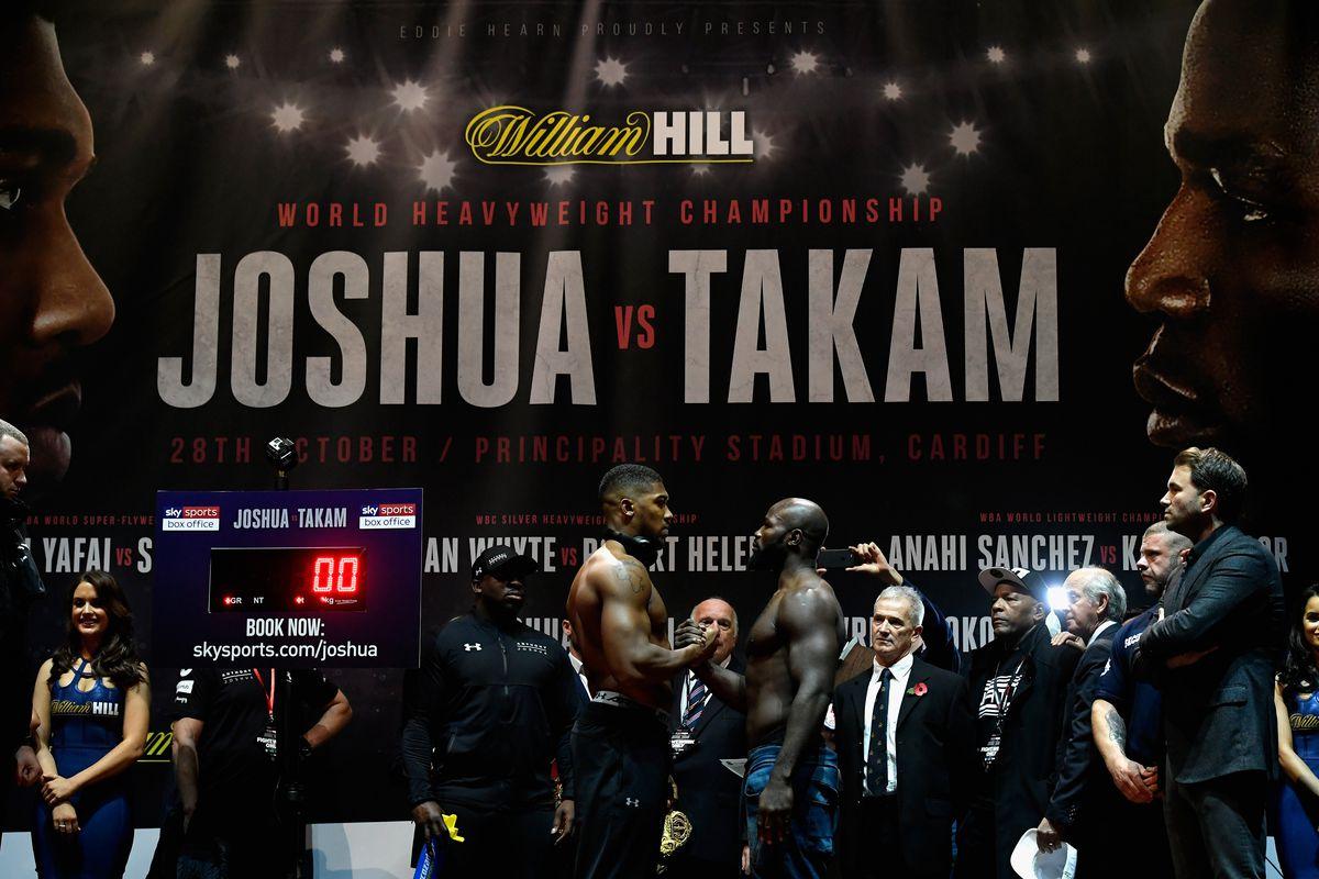 Joshua stops Takam in 10th round
