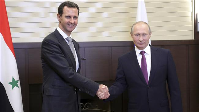 Putin congratulates Assad on Syrian army achievements in anti-terror fight