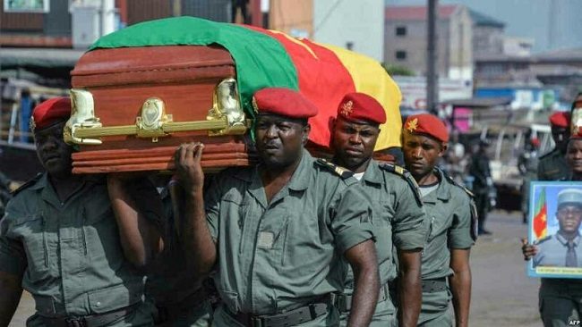 Who were the 4 French Cameroun soldiers killed in Ambazonia?