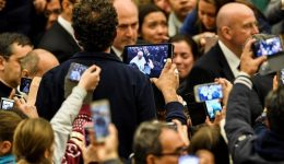 """Pope Francis says """"lift up our hearts doesn't mean lift up our mobile phones to take photographs"""""""