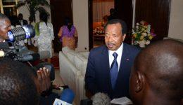 Biya spotted back in Yaounde