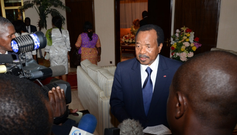Biya spotted back in Yaounde