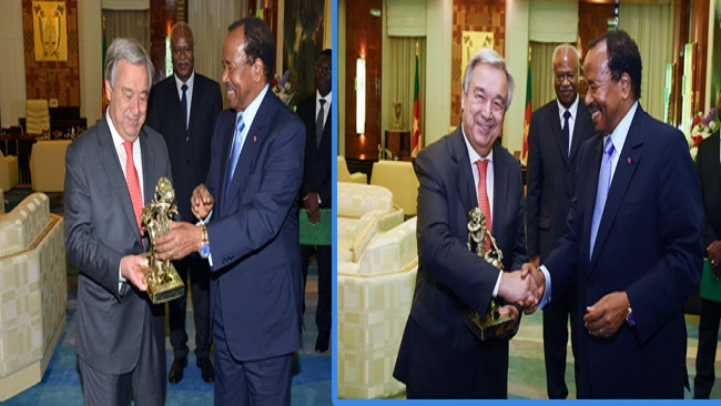 Burning Down Kumba Hospital: UN boss has no credibility, Covers up Biya, Took Biya's golden statue