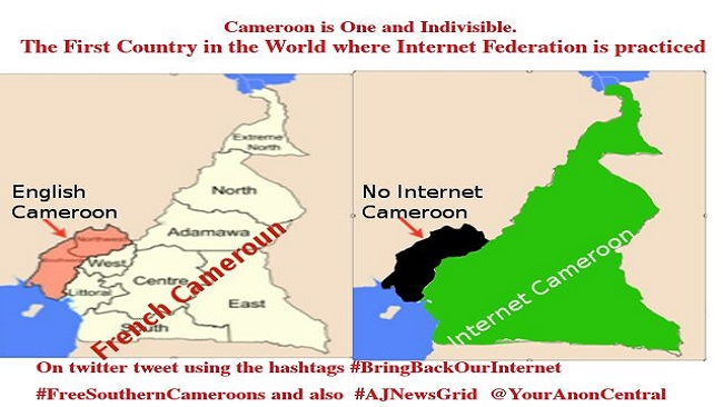 Biya regime sued over internet shutdown in Southern Cameroons