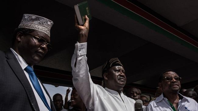 Odinga symbolically sworn in as Kenya's 'people's president'