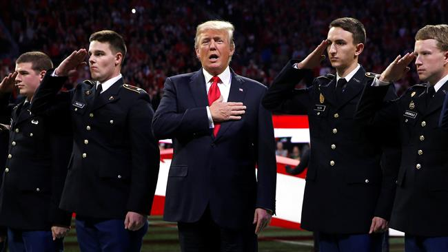 US: Trump mocked for forgetting US national anthem