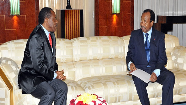 Biya holds talks with Equatorial Guinea envoy