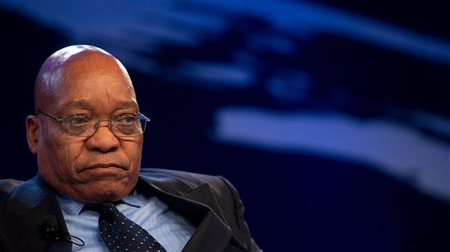 South African President Zuma declares resignation