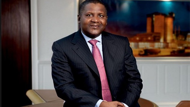 Aliko Dangote is world's 100th richest man