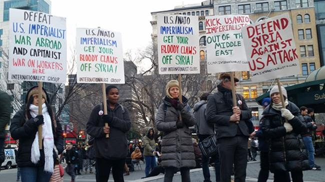 Protests over Syria airstrikes continue across US