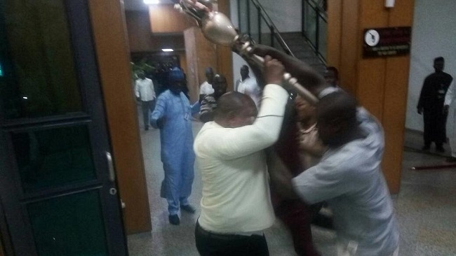Nigeria: Thugs invade Senate, fight security and steal symbol of authority