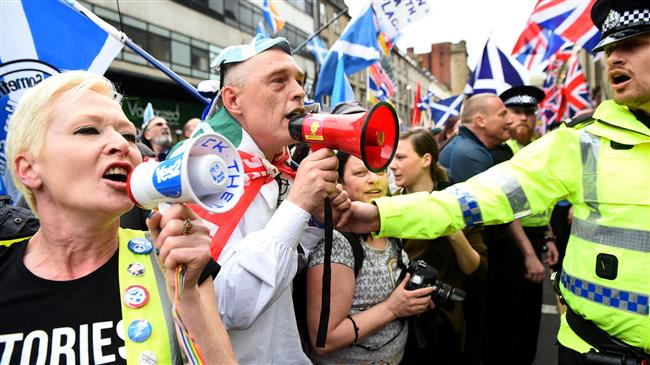 UK: Thousands march in Glasgow for independence in Scotland