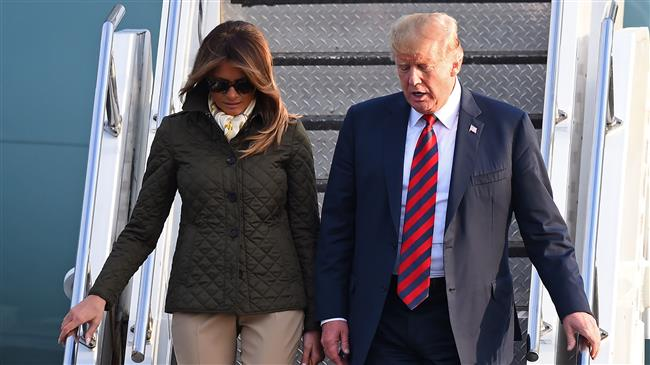 Trump greeted by protests as he arrives in Scotland