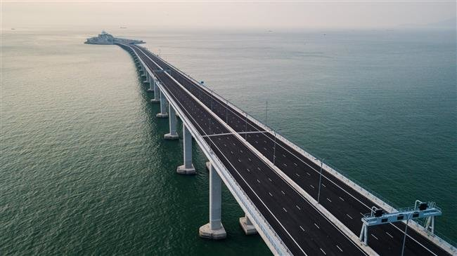 China opens the world's longest sea bridge