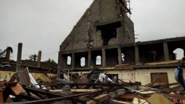Yaounde: At least two dead as church collapses under heavy rain