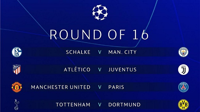 UEFA Champions League draw: Liverpool vs Bayern, Man United vs PSG