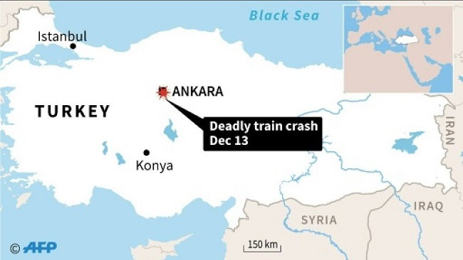 Four dead, 43 injured in Ankara train crash