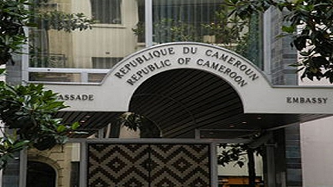 Cameroon embassy in Paris overrun by the Diaspora
